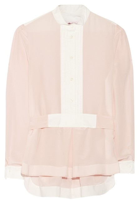 Preload https://img-static.tradesy.com/item/3795169/see-by-chloe-pink-bib-silk-blouse-size-2-xs-0-0-650-650.jpg