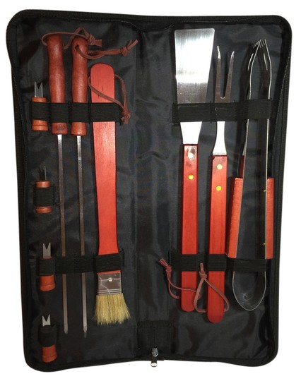 Other 10-Piece Bar-B-Que Travel/Picnic Set with Handled Carrying Case [ Roxanne Anjou Closet ]