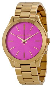 Michael Kors Michael Kors Pink Dial Gold Tone Ladies Watch