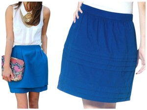 Tulle Mini Skirt blue