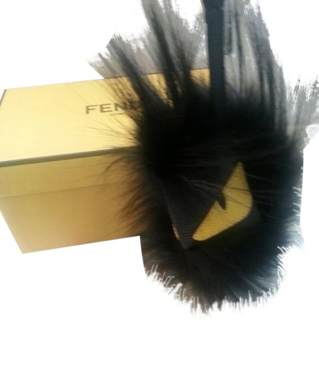 Fendi BNIB Authentic Fendi Monster Bag Bug Fusto Black Fur Bag Charm