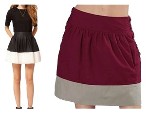 Tulle Mini Skirt burgundy gray