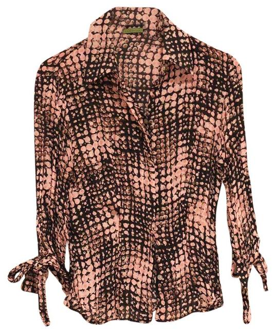Preload https://item2.tradesy.com/images/pink-and-black-crinkled-shirt-button-down-top-size-4-s-3795661-0-0.jpg?width=400&height=650