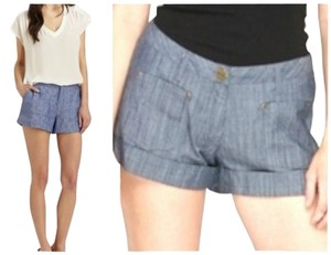 Tulle Cuffed Shorts blue