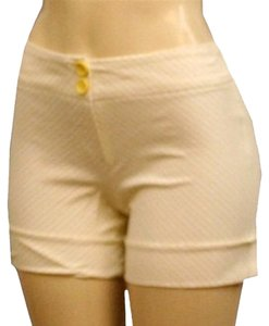 meeting Cuffed Shorts yellow white