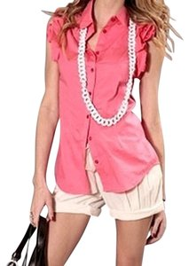 Forever 21 Cuffed Shorts beige