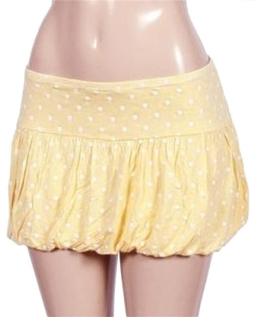 Hello2You Mini Skirt yellow white