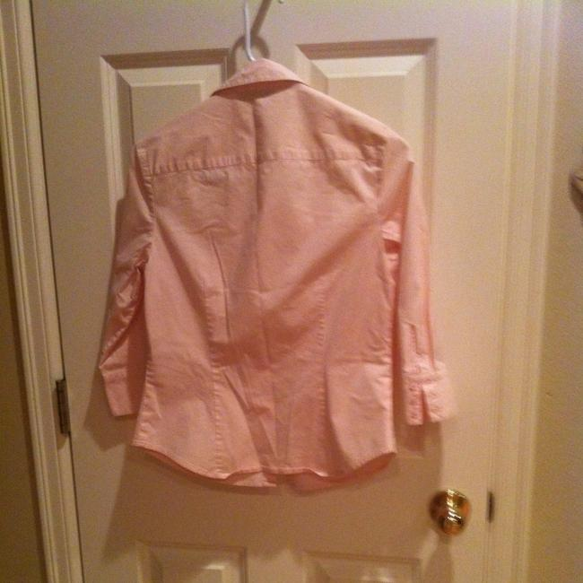 Ann Taylor 6 S Small Hidden Buttons Work Office Dressy Traditional Classic Preppy Soft Top pink