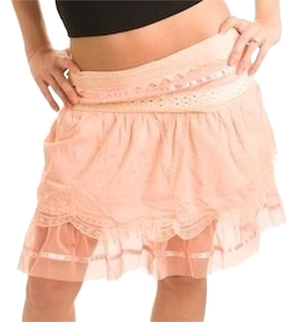 Preload https://img-static.tradesy.com/item/3796006/grifflin-paris-peach-eyelet-scallop-band-tulle-miniskirt-size-8-m-29-30-0-0-650-650.jpg