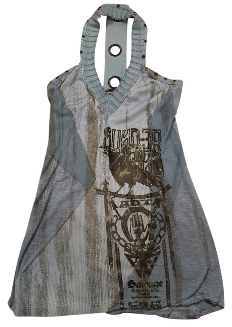 Salvage Top Blue-gray