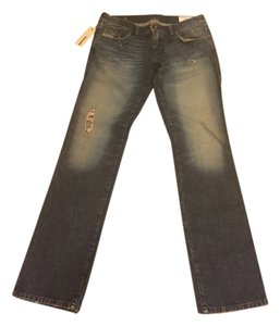 Diesel Designer Denim Distresseddenim Straight Leg Jeans-Medium Wash