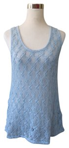 DKNY Crochet Top Blue