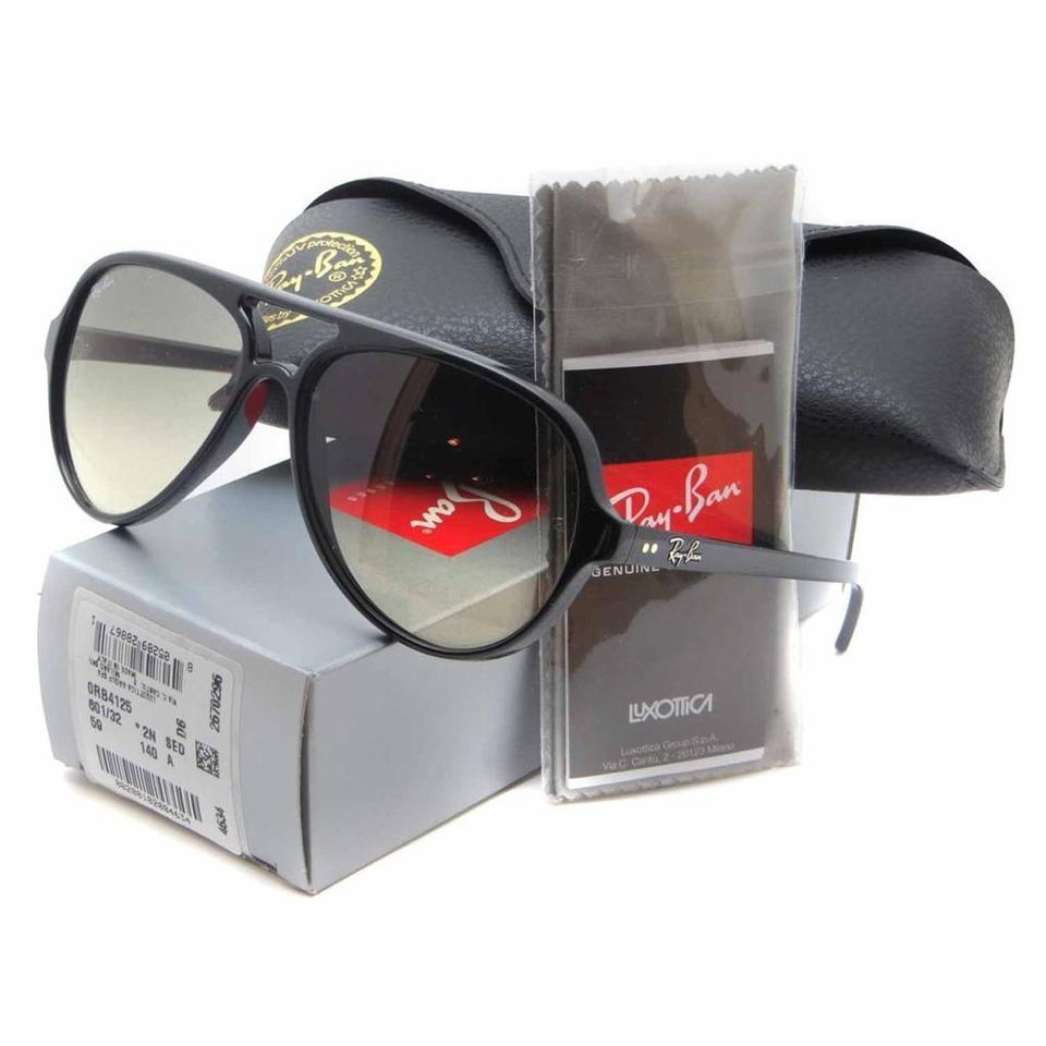 7fb2b3c350 Ray-Ban Light Gray Gradient Lens with Black Frame Cats 5000 Classic Rb4125  601 32 59-13 Sunglasses