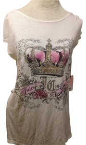 Juicy Couture Top Beige/pink/gold