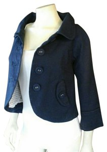 Nick & Mo Size 3 And Button Down Swing Casual Lined Designer Size 4 Navy Blue Jacket