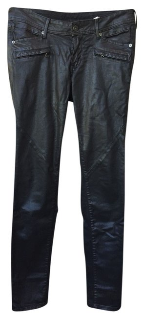 Preload https://img-static.tradesy.com/item/3796903/h-and-m-black-wax-coated-skinny-pants-size-8-m-29-30-0-0-650-650.jpg