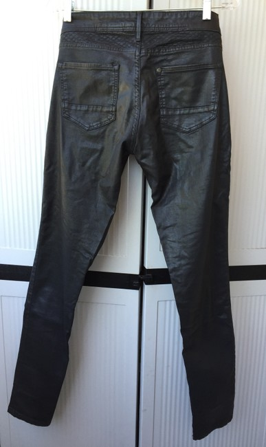 H&M Faux Leather Leather Look Rocker Skinny Pants Black Image 3