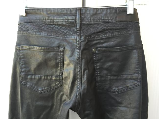 H&M Faux Leather Leather Look Rocker Skinny Pants Black Image 4