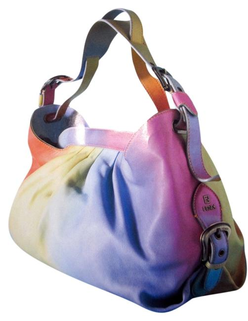 Fendi Doctor B In Bright Omre Rainbow Sherbet Leather Shoulder Bag Fendi Doctor B In Bright Omre Rainbow Sherbet Leather Shoulder Bag Image 1