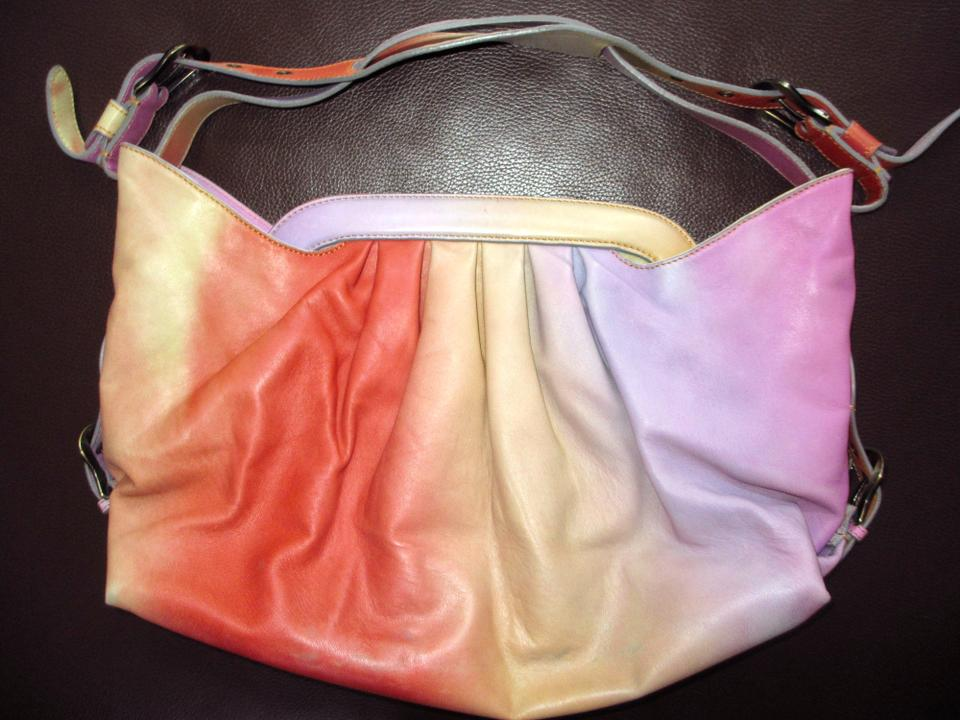 a3f9d177c7 Fendi Doctor B In Bright Omre Rainbow Sherbet Leather Shoulder Bag ...