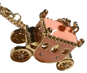 Betsey Johnson New Betsey Johnson pink Carriage Necklace Pendant J938