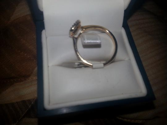 Diamond Accent Charming Square 10K Solid Yellow Gold