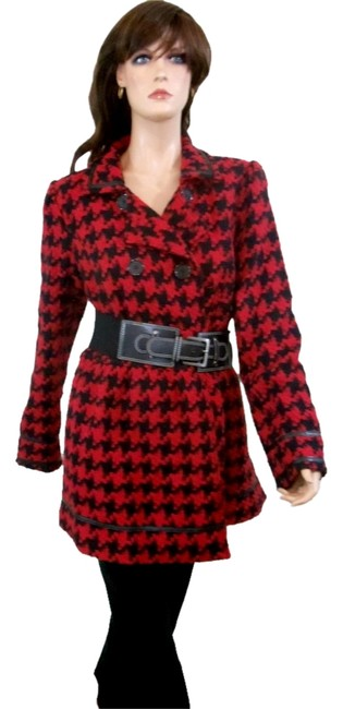 Preload https://item5.tradesy.com/images/candie-s-multicolor-red-and-black-houndstooth-check-belted-pea-coat-size-16-xl-plus-0x-3797899-0-0.jpg?width=400&height=650