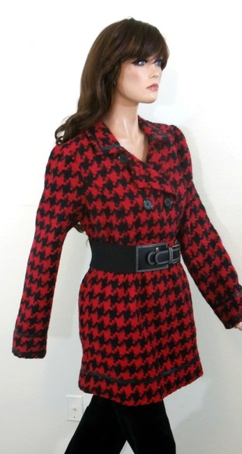 Candie's Houndstooth Check Pea Coat