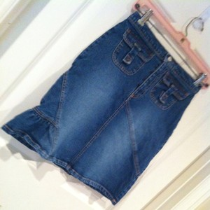 KC Parker Oo 00 Xs 24 Skirt Denim Blue