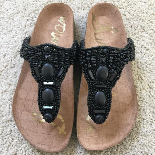 Sam Edelman Summer Embellished Comfortable Black Sandals