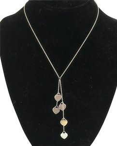 Tiffany & Co. Tiffany & Co. Sterling Silver Return to Tiffany 5 Pendant Lariat Necklace