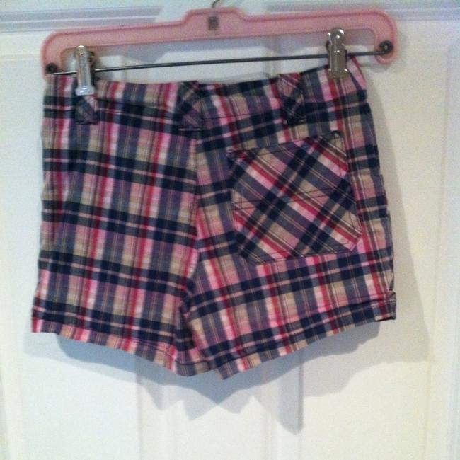 Roxy Beach Plaid Xxs 26 Waist Girls 12 Girls Boyfriend Beach Print Pattern Cotton Summer Shorts