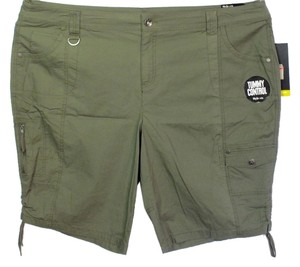 Style & Co Plus Size Fashions 7 Pocket Drawstring Cuffs Cargo Shorts
