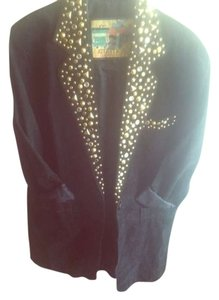 Other Vintage Grunge Studs Studded Stars Suede Winter Trench Jacket Trench Coat
