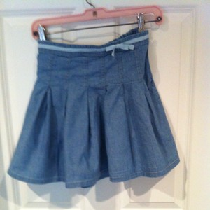 Boden 2 Xs Skirt Light Denim Blue