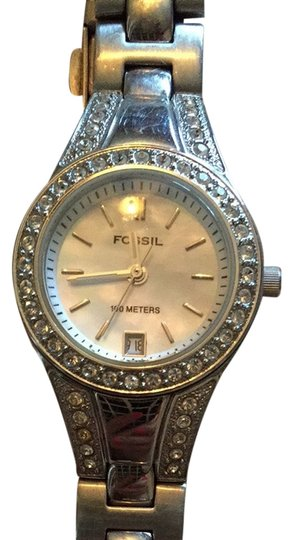 Preload https://item3.tradesy.com/images/fossil-silver-with-mother-of-pearl-face-watch-3798862-0-0.jpg?width=440&height=440