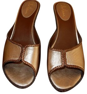 Cole Haan Light Gold & Bronze Trim Sandals