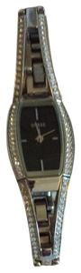 Guess Guess Black Faced Watch With Crystals