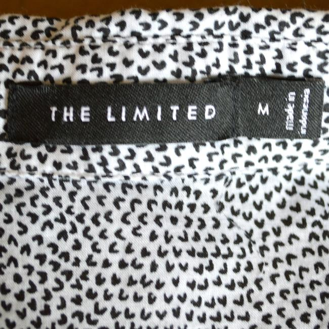 The Limited Spotted Button Down Shirt White and Black