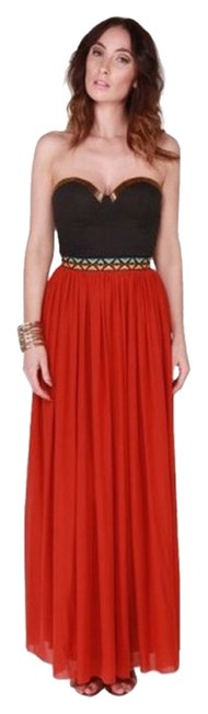 Red Maxi Dress by Rare London
