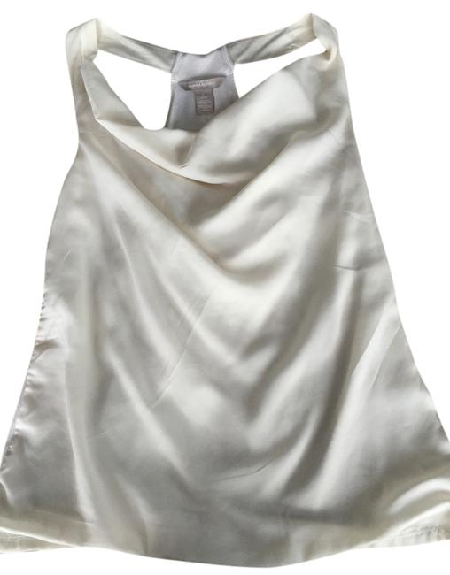Banana Republic Cowl Neck Open Shoulders Drape Top Cream/ivory