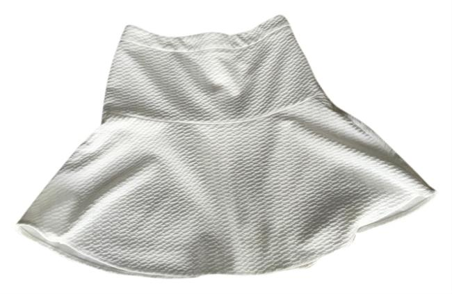 Ann Taylor LOFT White Bell Shape Mini Skirt Ivory