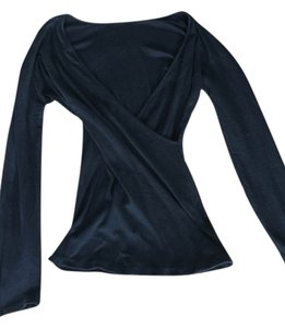 Michael Stars Faux Wrap Top Black