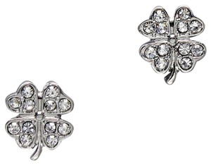Other Pave Crystal Clover Stud Earrings