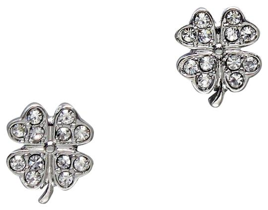 Preload https://item1.tradesy.com/images/clear-crystal-pave-clover-stud-earrings-3799645-0-0.jpg?width=440&height=440