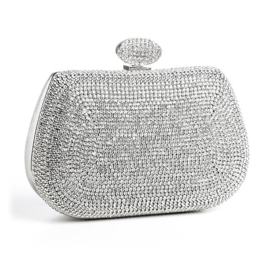Mariell Double Sided Rhinestone Minaudire Wedding Evening Bag 3815eb-s