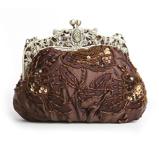 Mariell Beaded Vintage Evening Bag With Antique Frame 3273eb-cb