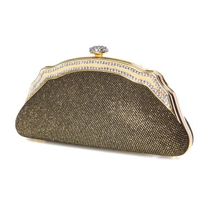 Mariell Antique Gold Minaudiere Evening Purse 3277eb-ag