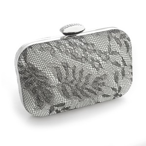 Mariell Lacey Evening Minaudiere With Silver Shimmer 3454eb-s