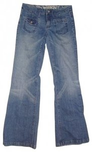 Anoname Trouser/Wide Leg Jeans-Medium Wash